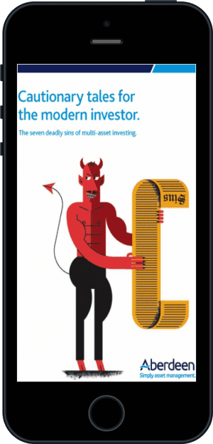 Cover of Cautionary tales for the modern investor (Ebook - phone) by Aberdeen Asset Management