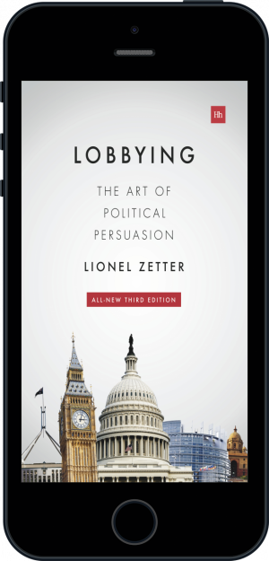 Cover of Lobbying (Ebook - phone) by Lionel Zetter