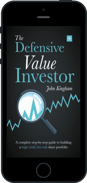 Cover of The Defensive Value Investor (Ebook - phone) by John Kingham
