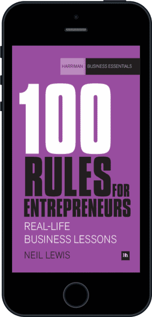 Cover of 100 Rules For Entrepreneurs (Ebook - phone) by Neil Lewis