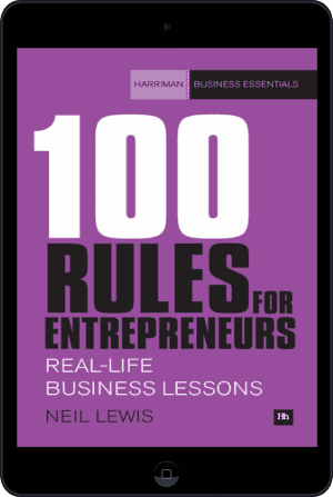 Cover of 100 Rules For Entrepreneurs (Ebook - tablet) by Neil Lewis