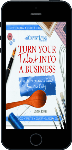 Cover of Turn Your Talent into a Business (Ebook - phone) by Emma Jones andCountry Living