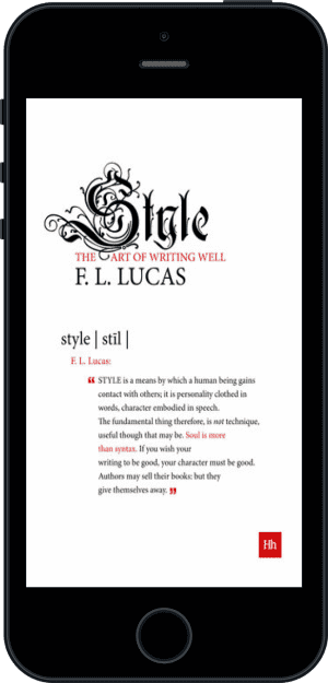 Cover of Style (Ebook - phone) by F. L. Lucas