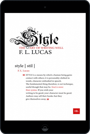 Cover of Style (Ebook - tablet) by F. L. Lucas