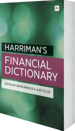 Cover of Harriman's Financial Dictionary by Jane Fuller and Simon Briscoe