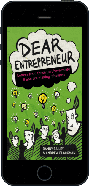Cover of Dear Entrepreneur (Ebook - phone) by Danny Bailey and Andrew Blackman