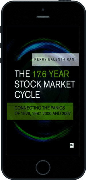 Cover of The 17.6 Year Stock Market Cycle (Ebook - phone) by Kerry Balenthiran