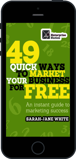 Cover of 49 Quick Ways to Market your Business for Free (Ebook - phone) by Sarah-Jane White