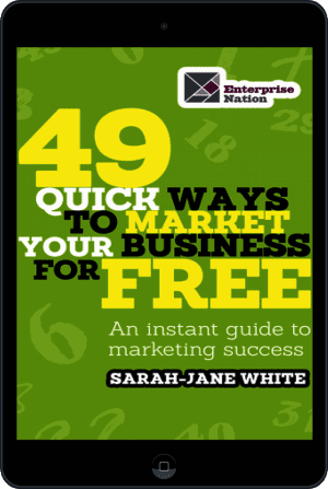 Cover of 49 Quick Ways to Market your Business for Free (Ebook - tablet) by Sarah-Jane White