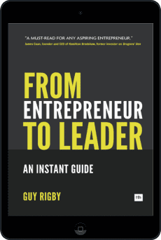 Cover of From Entrepreneur to Leader by Guy Rigby