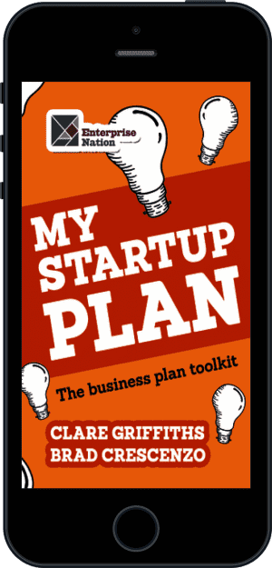Cover of My Start-Up Plan (Ebook - phone) by Clare Griffiths andBrad Crescenzo