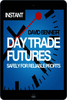 Cover of Day Trade Futures Safely For Reliable Profits by David Bennett
