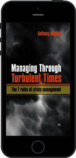 Cover of Managing Through Turbulent Times (Ebook - phone) by Anthony Holmes
