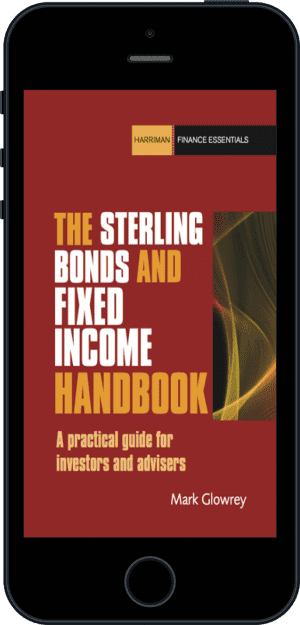 Cover of The Sterling Bonds and Fixed Income Handbook (Ebook - phone) by Mark Glowrey