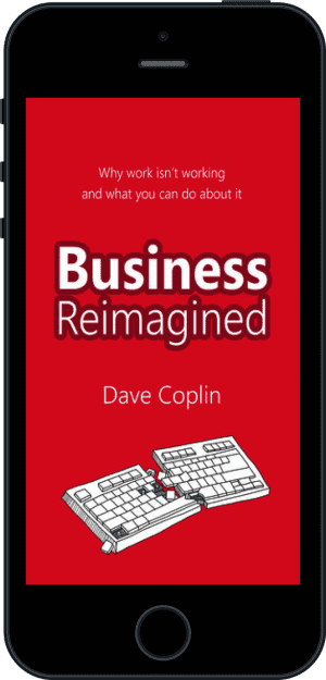 Cover of Business Reimagined (Ebook - phone) by Dave Coplin
