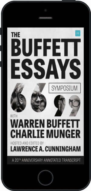 Cover of The Buffett Essays Symposium (Ebook - phone) by Lawrence A. Cunningham