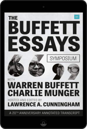 Cover of The Buffett Essays Symposium (Ebook - tablet) by Lawrence A. Cunningham