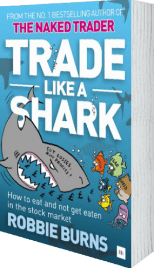 Cover of Trade Like a Shark (Paperback) by Robbie Burns