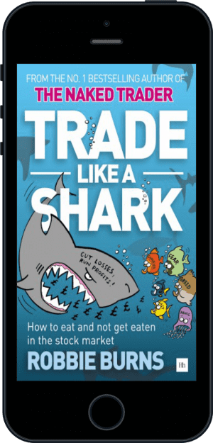 Cover of Trade Like a Shark (Ebook - phone) by Robbie Burns