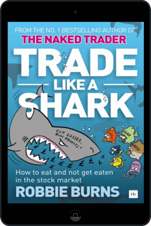 Cover of Trade Like a Shark (Ebook - tablet) by Robbie Burns