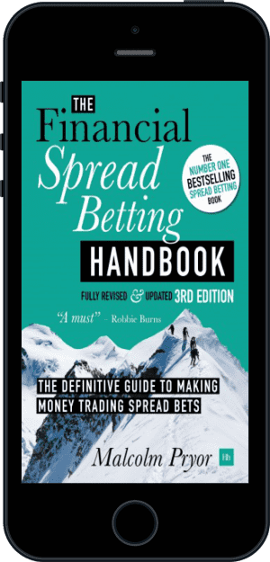 Cover of The Financial Spread Betting Handbook, 3rd edition (Ebook - phone) by Malcolm Pryor