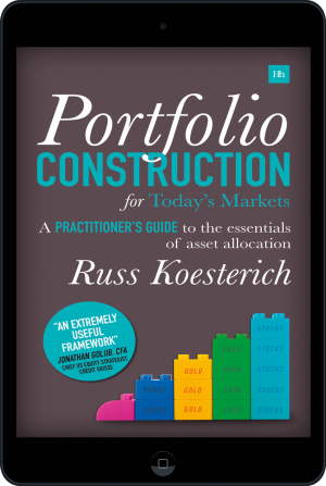 Cover of Portfolio Construction for Today's Markets (Ebook - tablet) by Russ Koesterich