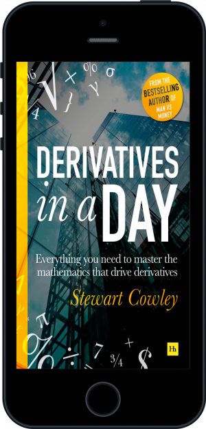 Cover of Derivatives in a Day (Ebook - phone) by Stewart Cowley