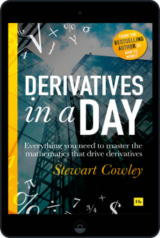 Cover of Derivatives in a Day by Stewart Cowley