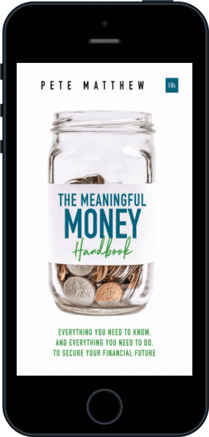 Cover of The Meaningful Money Handbook (Ebook - phone) by Pete Matthew