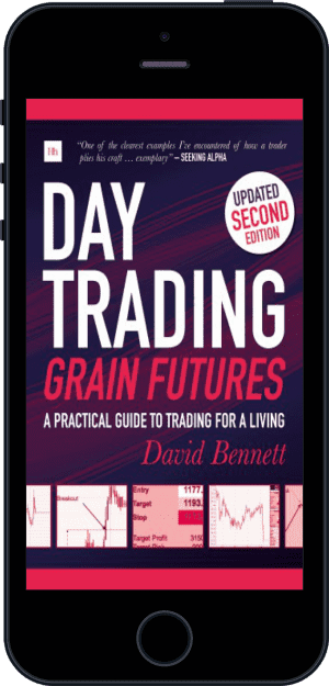 Cover of Day Trading Grain Futures (Ebook - phone) by David Bennett