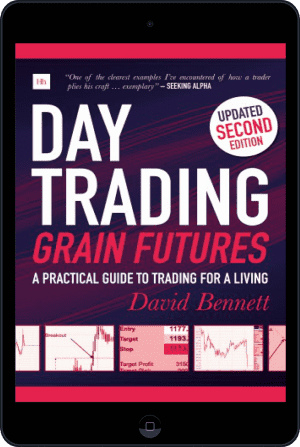 Cover of Day Trading Grain Futures (Ebook - tablet) by David Bennett