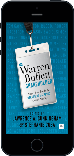 Cover of The Warren Buffett Shareholder (Ebook - phone) by Lawrence A. Cunningham and Stephanie Cuba