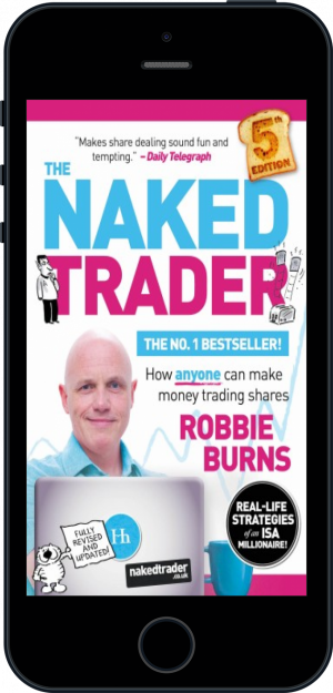 Cover of The Naked Trader (Ebook - phone) by Robbie Burns
