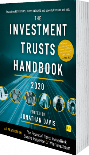 Cover of The Investment Trusts Handbook 2020 (Hardback) by Jonathan Davis