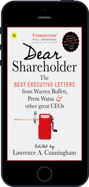 Cover of Dear Shareholder (Ebook - phone) by Lawrence A. Cunningham