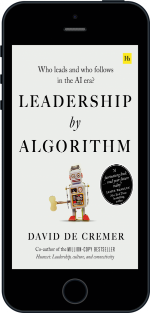 Cover of Leadership by Algorithm (Ebook - phone) by David De Cremer