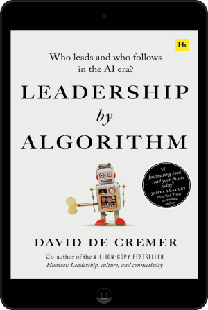 Cover of Leadership by Algorithm (Ebook - tablet) by David De Cremer