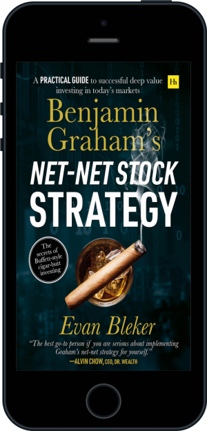 Cover of Benjamin Graham's Net-Net Stock Strategy (Ebook - phone) by Evan  Bleker
