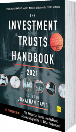 Cover of The Investment Trusts Handbook 2021  (Hardback) by Jonathan Davis