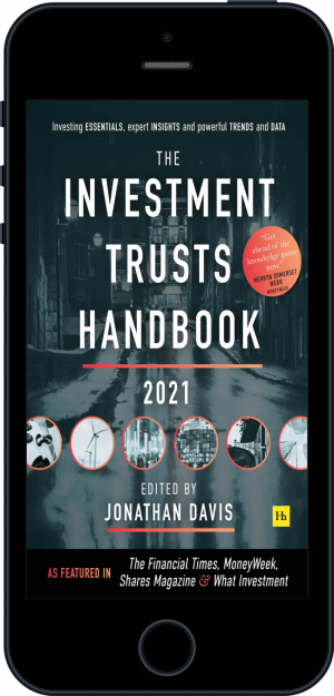 Cover of The Investment Trusts Handbook 2021  (Ebook - phone) by Jonathan Davis