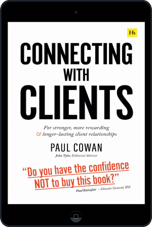 Cover of Connecting with Clients (Ebook - tablet) by Paul Cowan