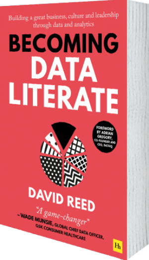 Cover of Becoming Data Literate  (Paperback) by David Reed