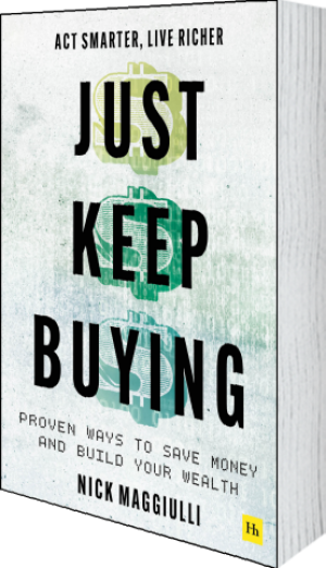Cover of Just Keep Buying (Paperback) by Nick  Maggiulli