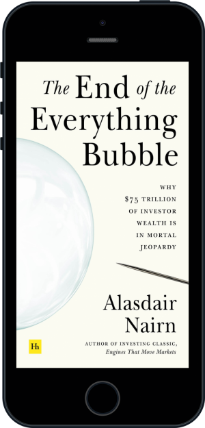 Cover of The End of the Everything Bubble (Ebook - phone) by Alasdair Nairn