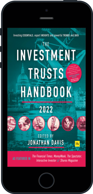 Cover of The Investment Trusts Handbook 2022 (Ebook - phone) by Jonathan Davis