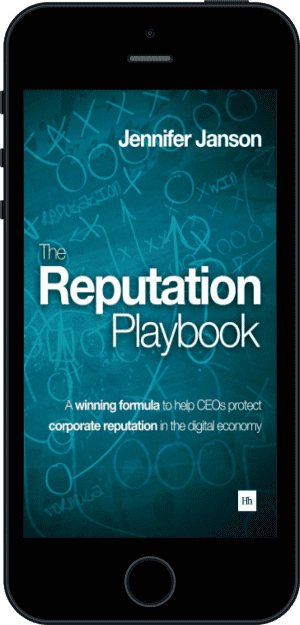 Cover of The Reputation Playbook (Ebook - phone) by Jennifer Janson
