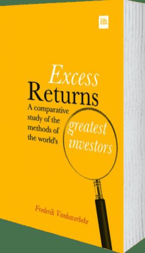 Cover of Excess Returns (Hardback) by Frederik Vanhaverbeke