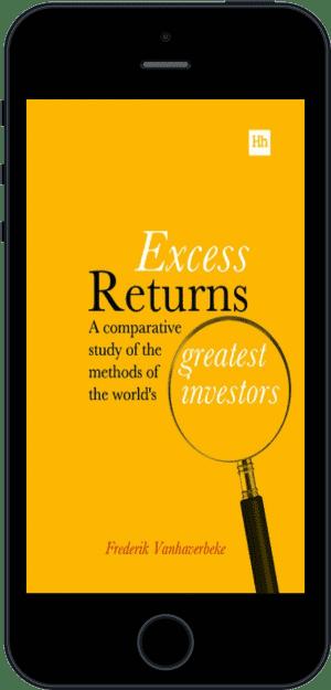 Cover of Excess Returns (Ebook - phone) by Frederik Vanhaverbeke