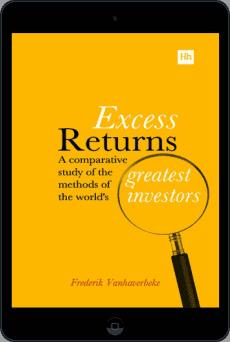 Cover of Excess Returns by Frederik Vanhaverbeke