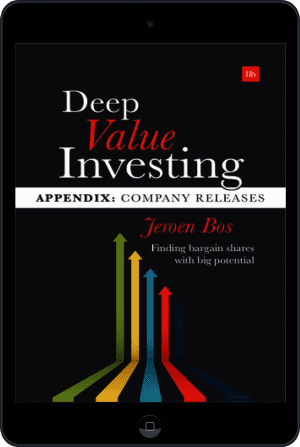 Cover of Deep Value Investing Appendix (Ebook - tablet) by Jeroen Bos